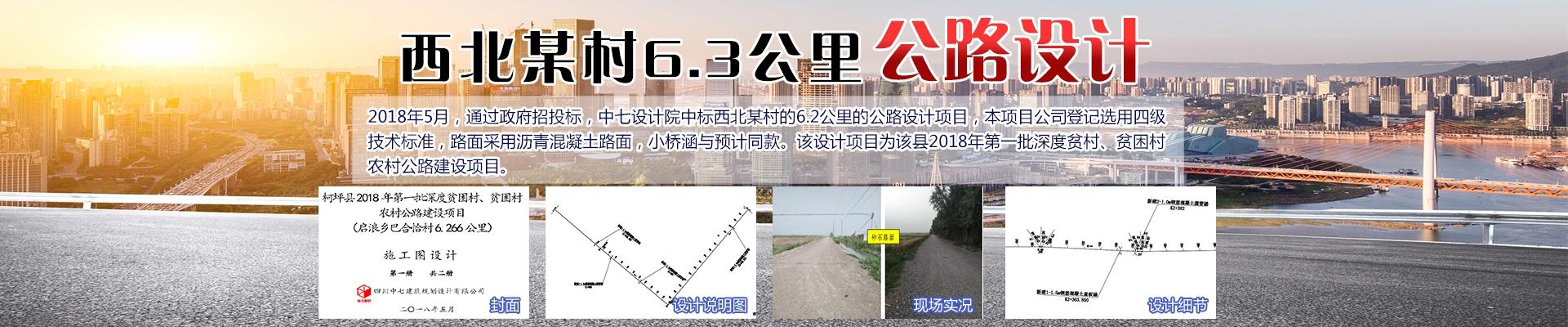 西北某村6.3公里公路设计